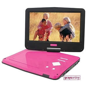 portable 10 1 39 39 swivel screen dvd player pdvd 1003 pink auction 0085 9003004 graysonline. Black Bedroom Furniture Sets. Home Design Ideas