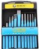 BERENT 12pc Chisel & Pin Punch Set, Sizes: Chisel 10, 12 & 16mm Pin 8, 6, 5