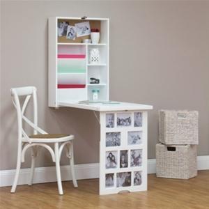 Buy Photo Frame Fold Down Multi Storage Desk White