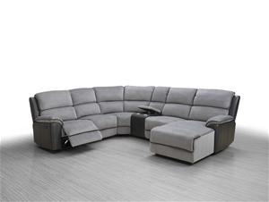 Fabric Pu Corner Modular Recliner Sofa Suite Auction 0053 3128827