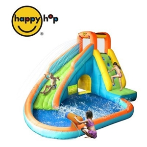 Buy happy hop water slide with pool and cannon for Happy hop inflatable water slide