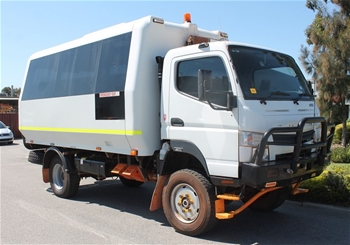 Unreserved 2012 Mitsubishi Canter 4x4 All Terrain18 Seat Bus